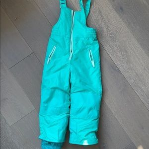 Mint green snowsuit